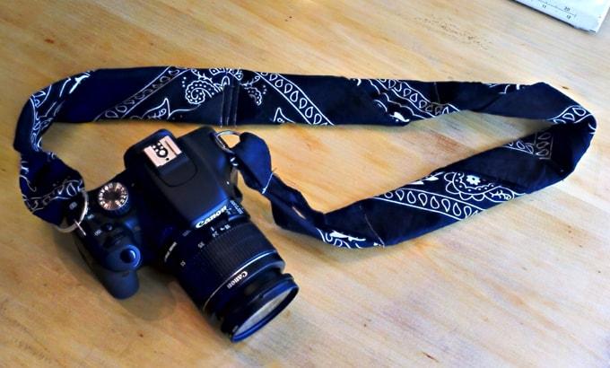 Bandana camera strap