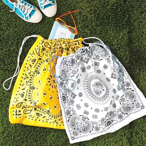 Bandana drawstring bag