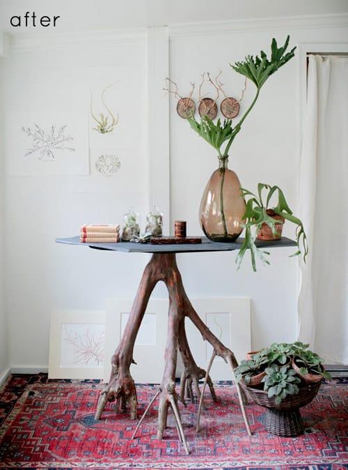 Big branch table pedestal