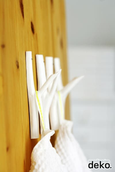 Branch wall hooks