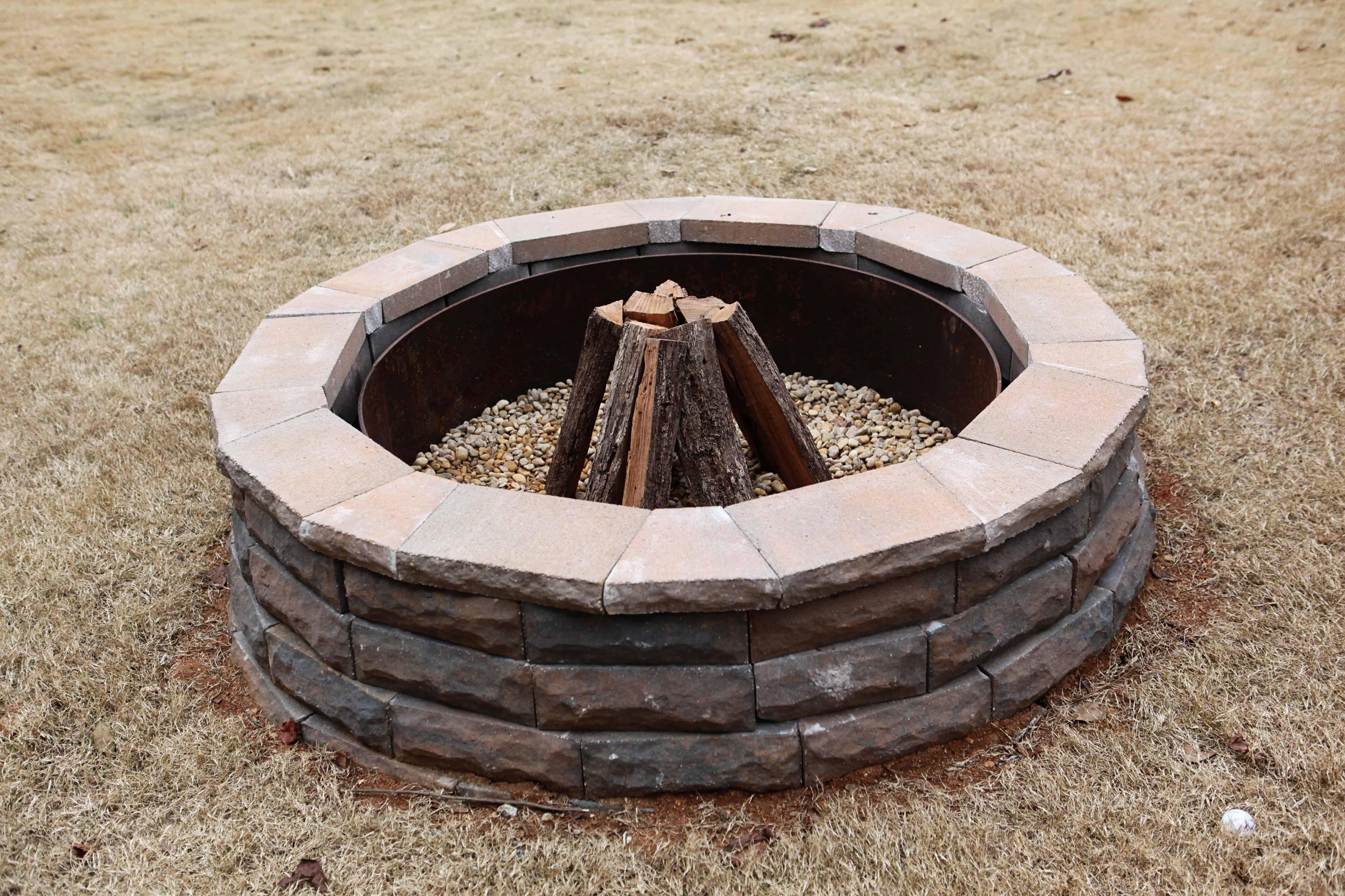 Chic backyard fire pit