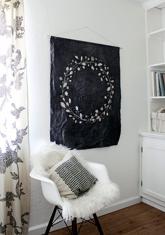 DIY Batik-dyed wall hanger