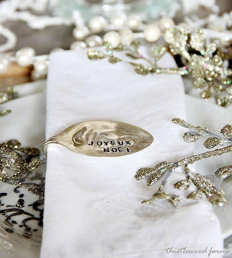 DIY Vintage style napkin rings