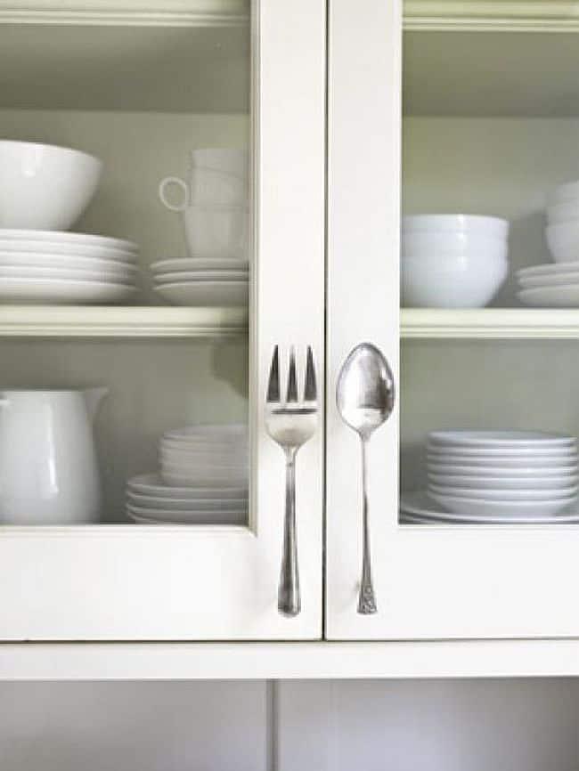 DIY cutlery cupboard handles