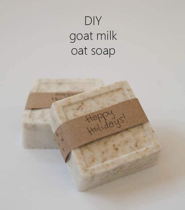 DIY goat milk oatmeal soap