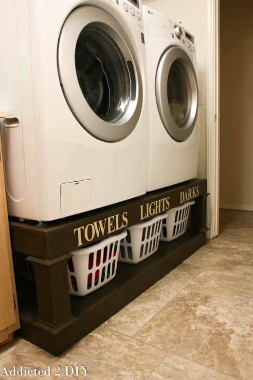 Creative ways to repurpose laundry baskets diy laundry pedestal solutioingenieria Image collections