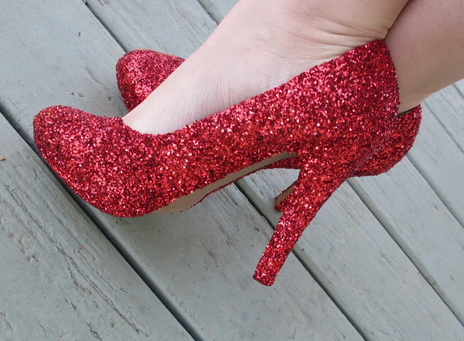 Glitter red heels