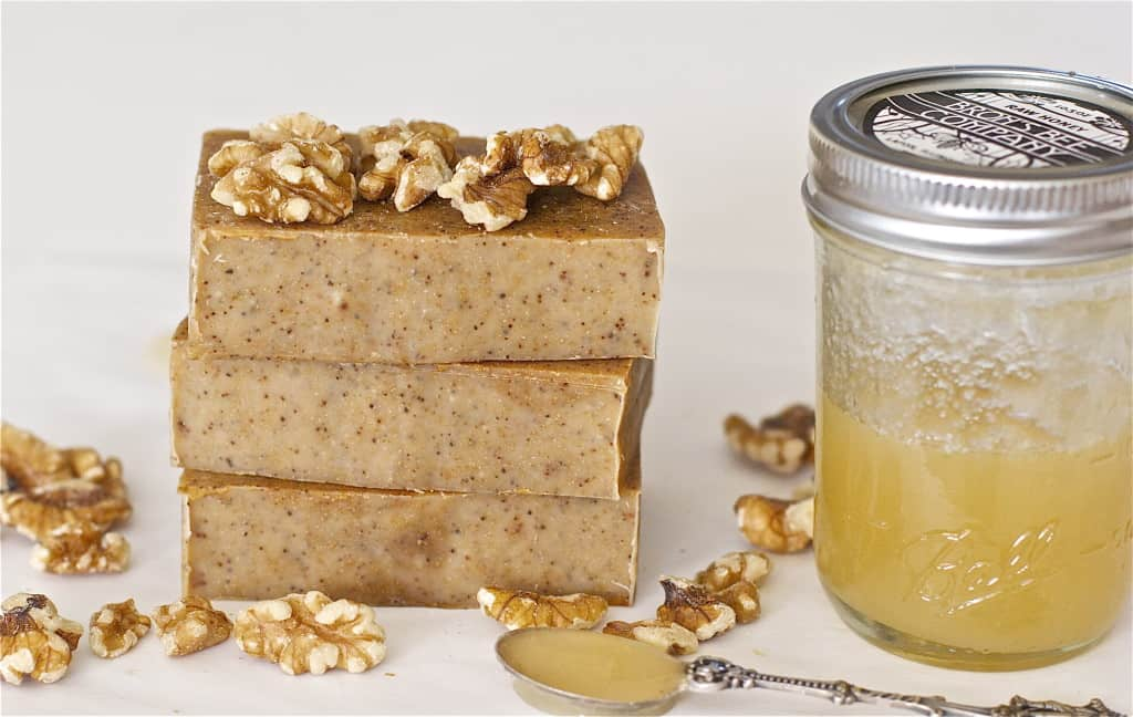 Honey walnut milk soap