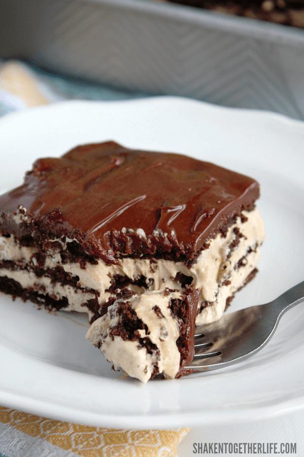 Iced mocha cake