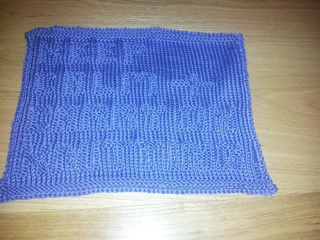 Keep Calm and Carry On Knitting dish cloth