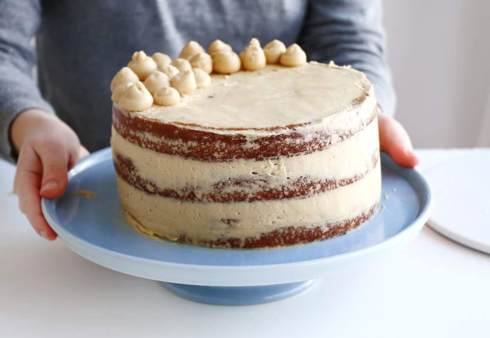 Layered coffee cake