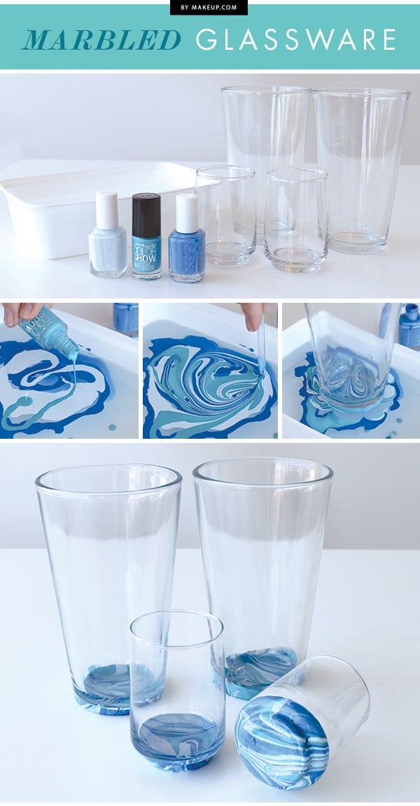 Marbled drinking glasses