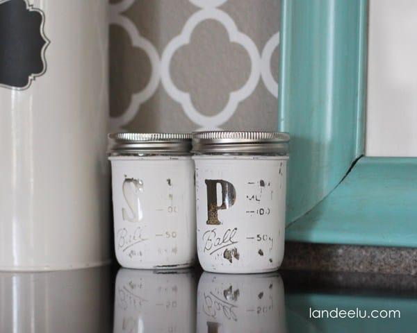 Painted mason jar shakers