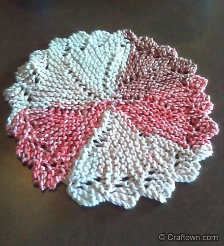 Pinwheel dish cloth