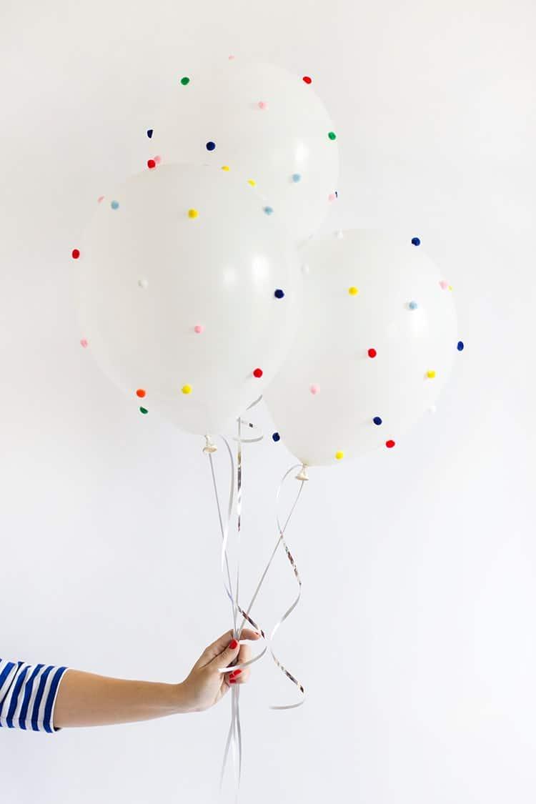 Pom pom balloons