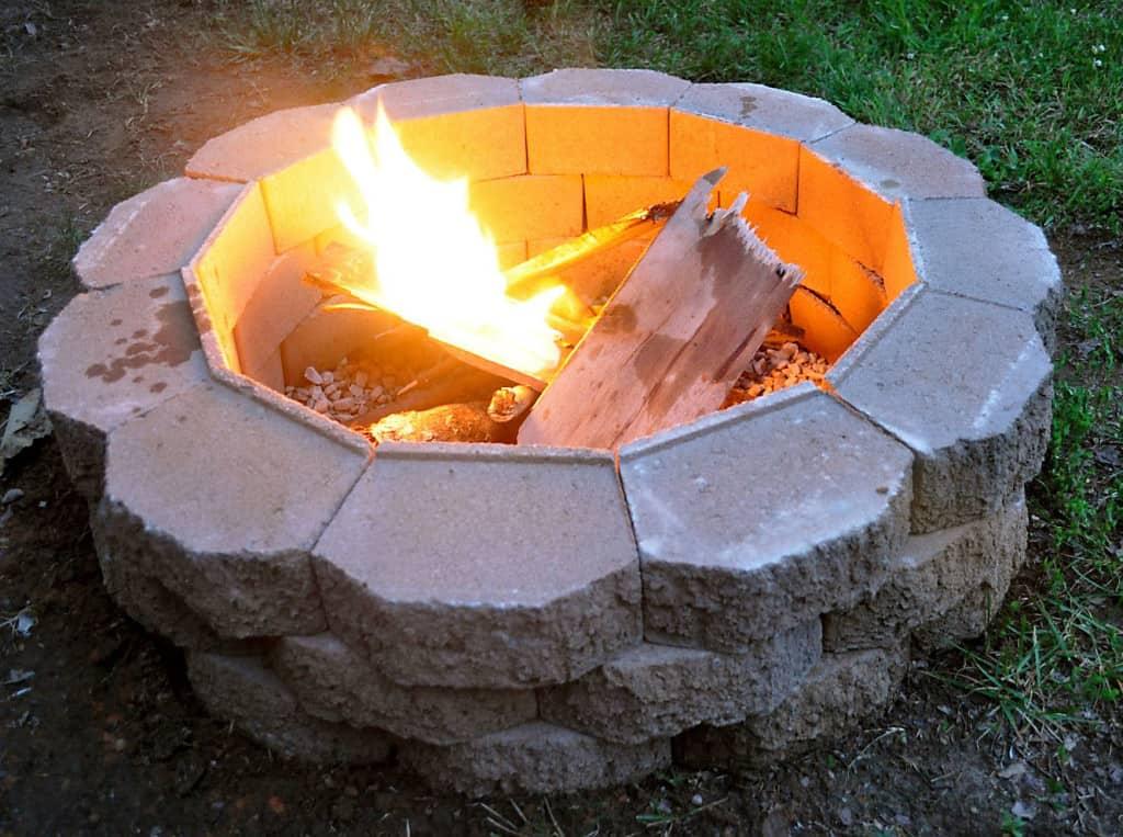 Raw edge fire pit