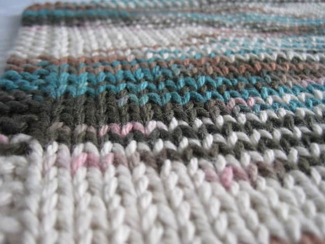 Simple Straight Knit dish cloth
