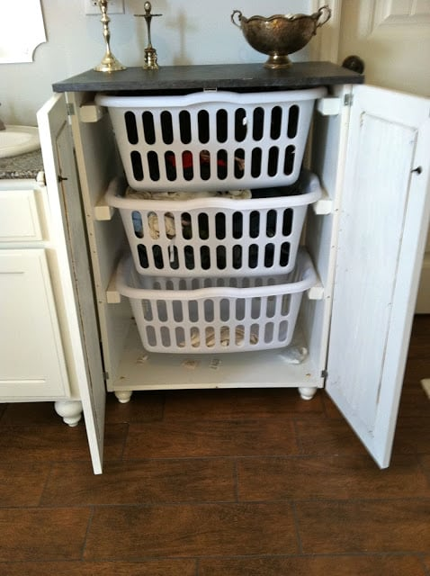 Sliding basket drawers with doors
