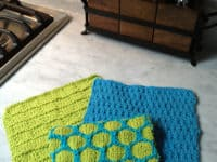 Spring fling dish cloth trio 200x150 Getting Crafty in Kitchen: 15 Cute Knitted Dish Cloths