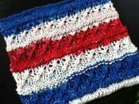 Stars n Stripes dish cloth 200x150 Getting Crafty in Kitchen: 15 Cute Knitted Dish Cloths