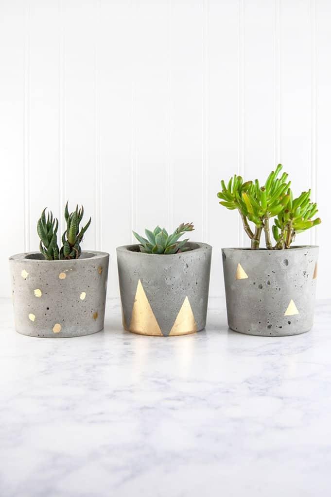 Unique concrete planters