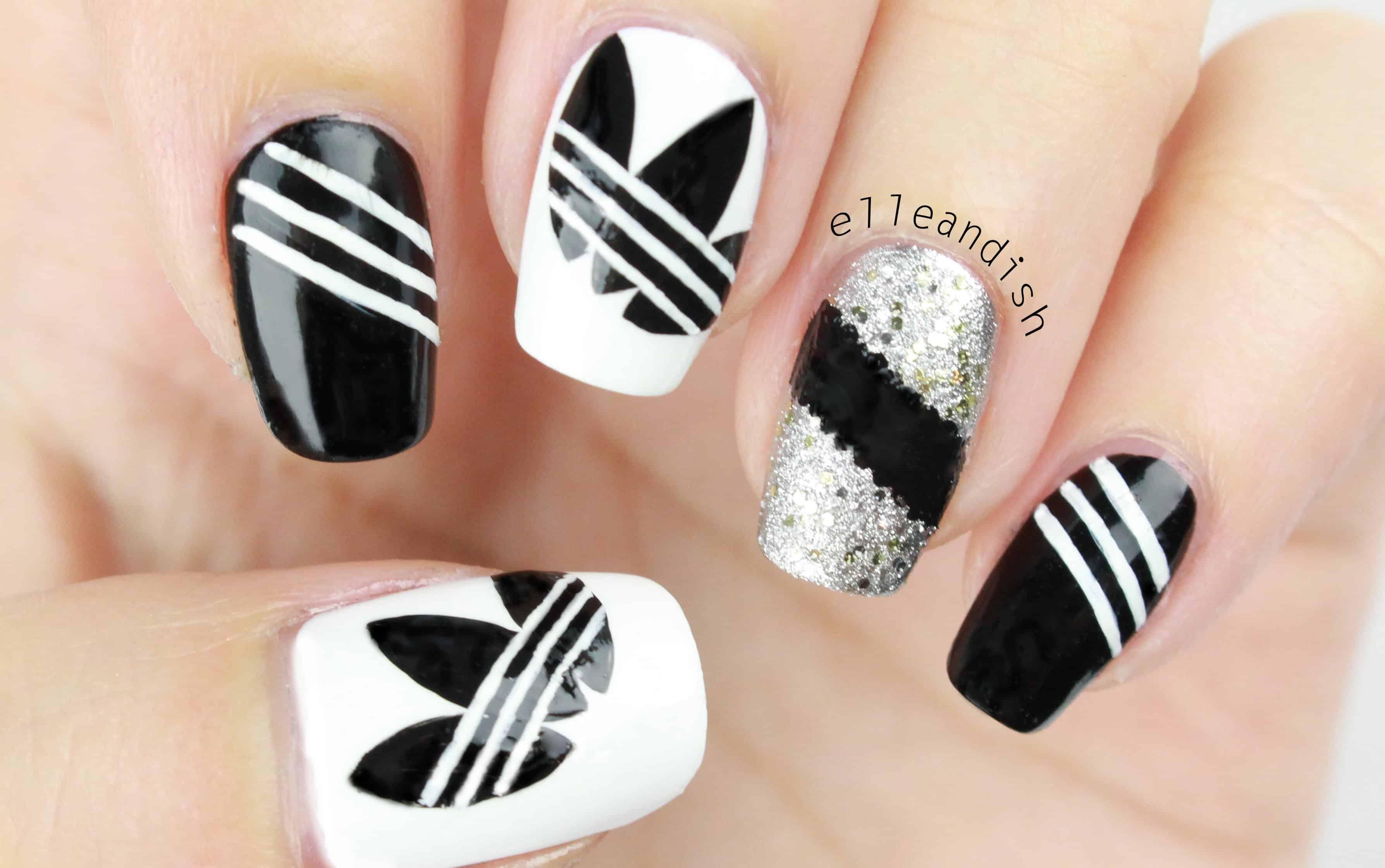 Adidas inspired nails