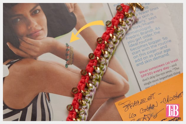 Bead and chain crochet bracelet