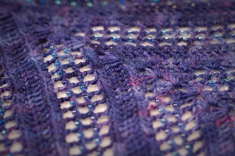 Beaded crochet Lisa shawl