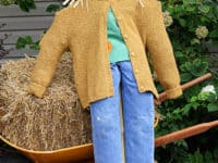 Big scarecrow from a pre made little scarecrow 200x150 Creative Scarecrow Ideas for Your Garden