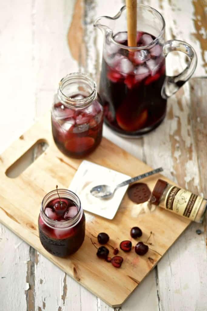 Bourbon cherry vanilla red wine sangria