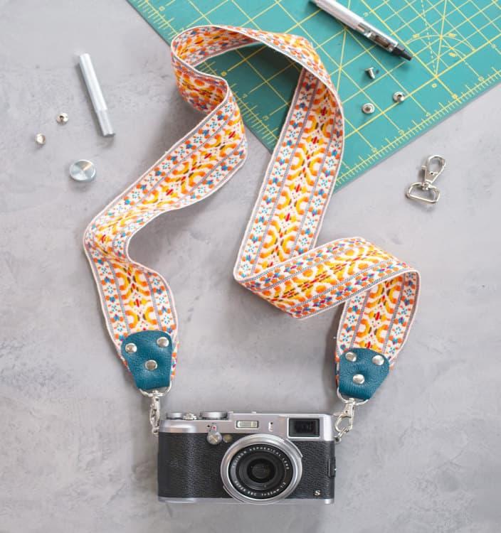 Colorful camera strap