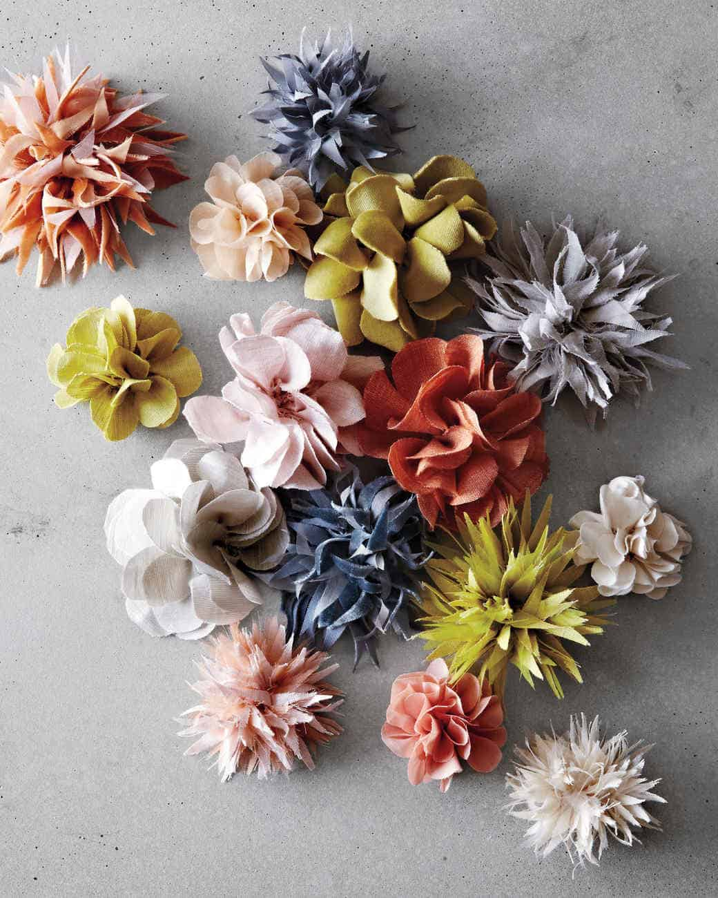 Colorful fabric florals