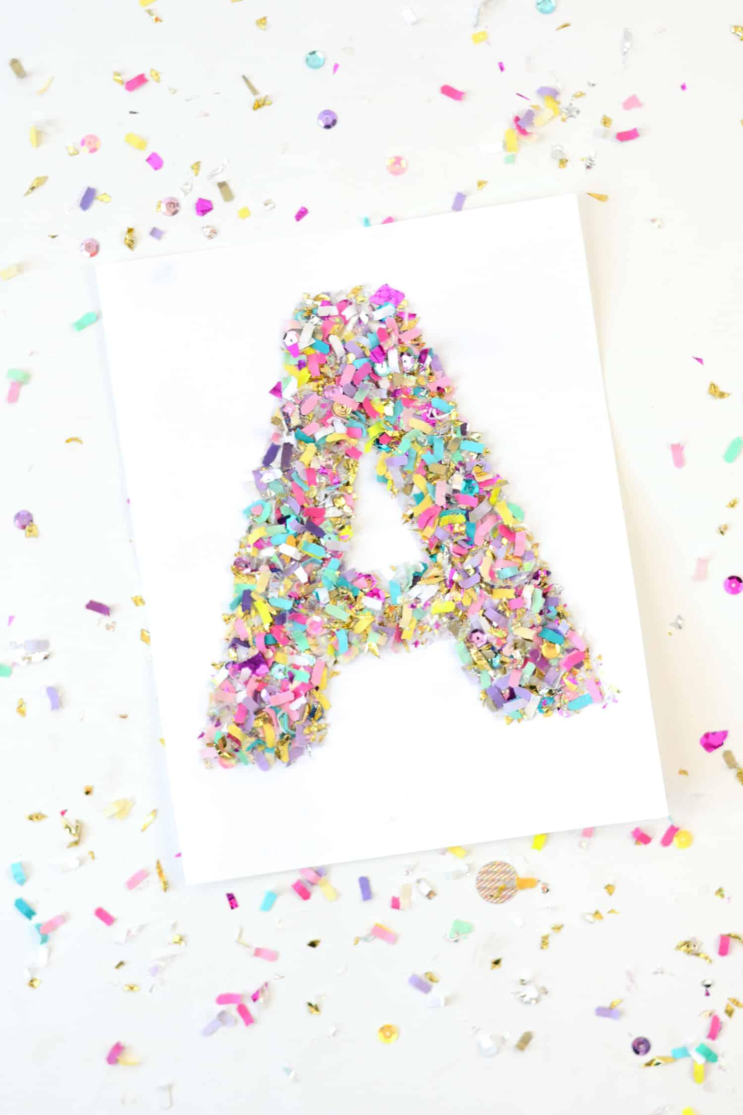 Confetti monogram