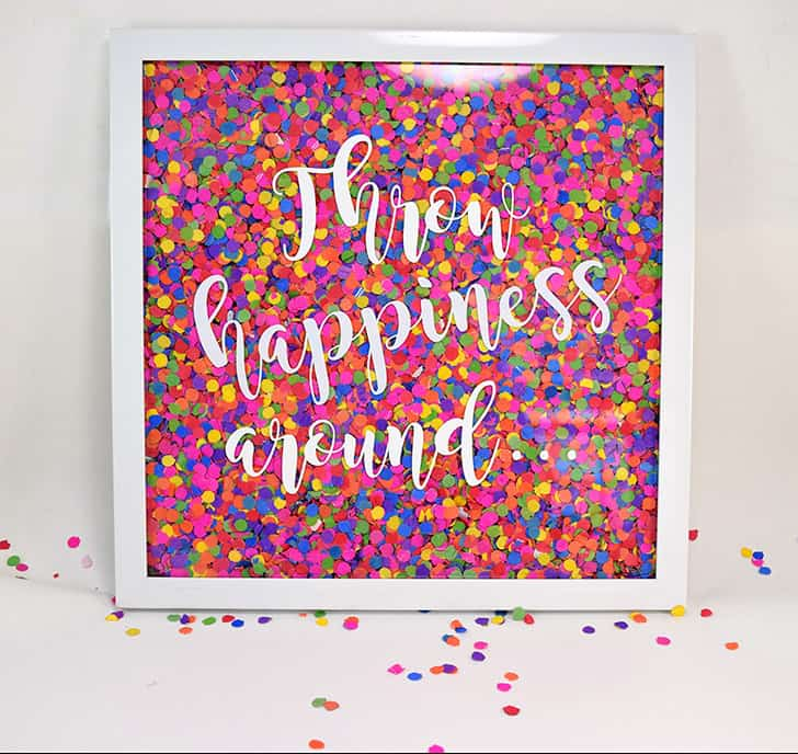 Confetti wall art