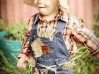 Cute scarecrow baby costume 200x150 Creative Scarecrow Ideas for Your Garden
