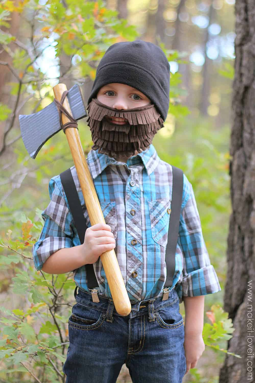 DIY lumberjack axe