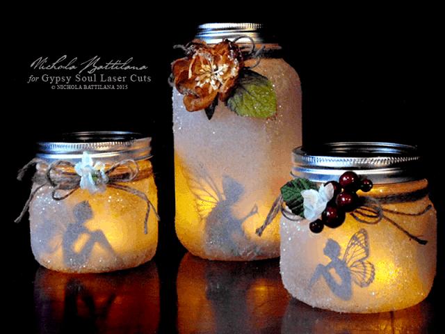 DIY maso jar fairy candles