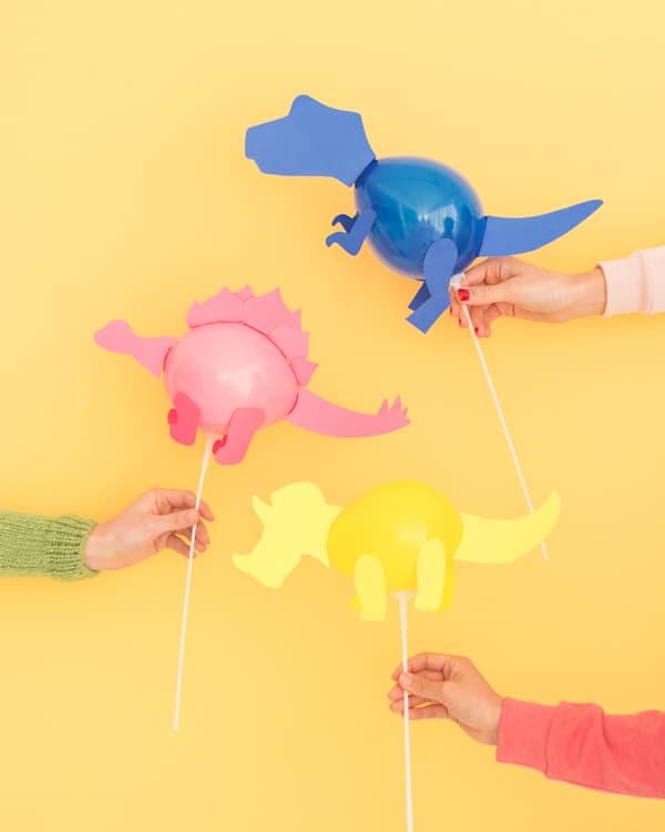 Dinosaur balloon sticks