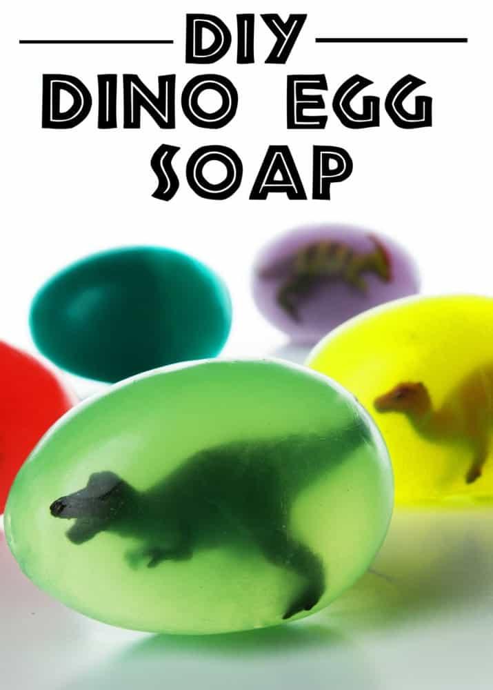 Dinosaur egg soap