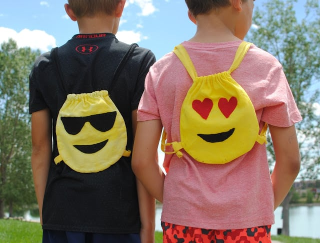 Emoji backpacks