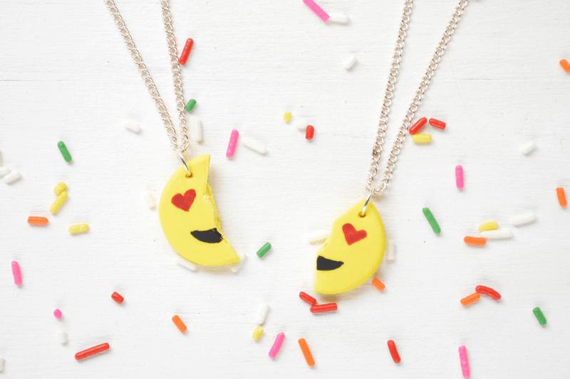 Emoji bff necklace
