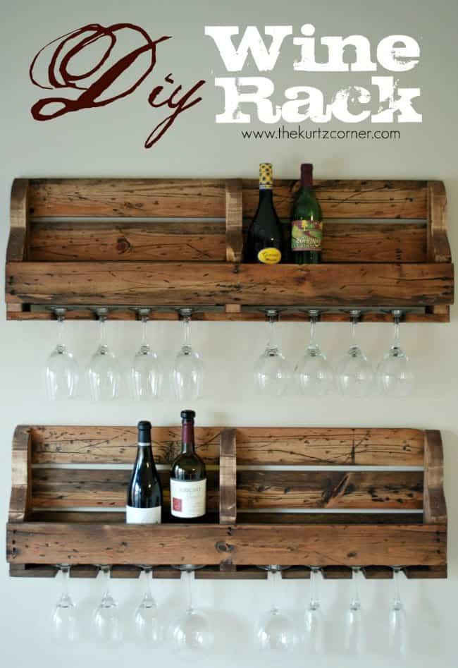 Farmhouse wine rack