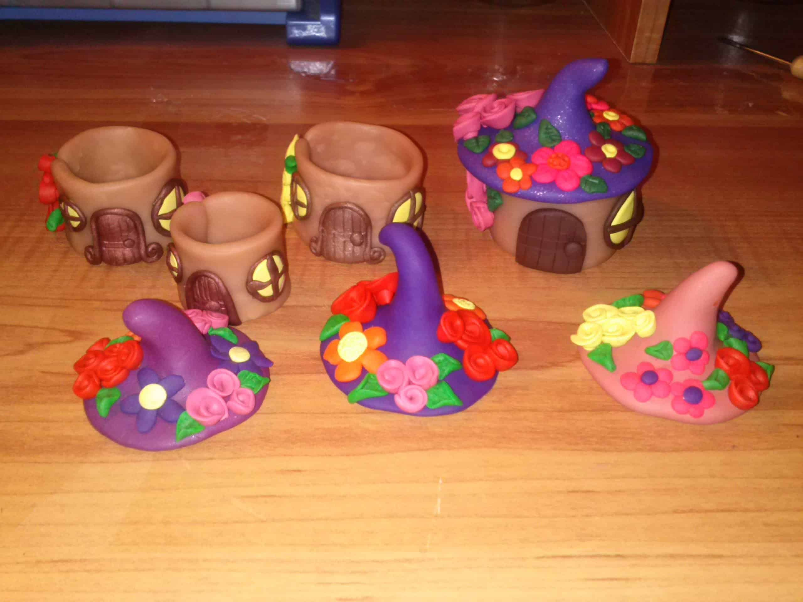 Hollow clay fairy houses