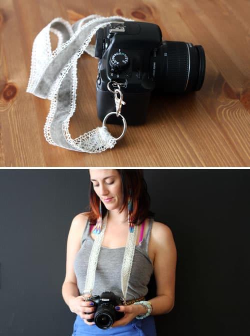 Lace camera strap