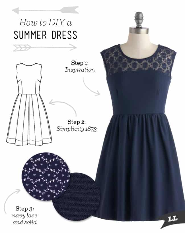 Lace top summer dress