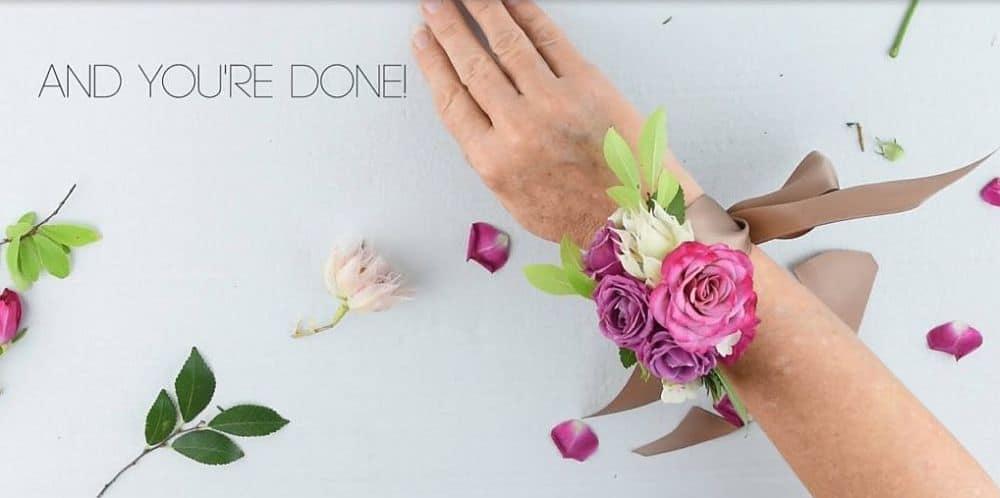 Lilac wrist corsage