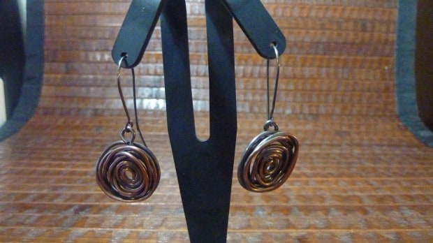 Mock antique spiral earrings