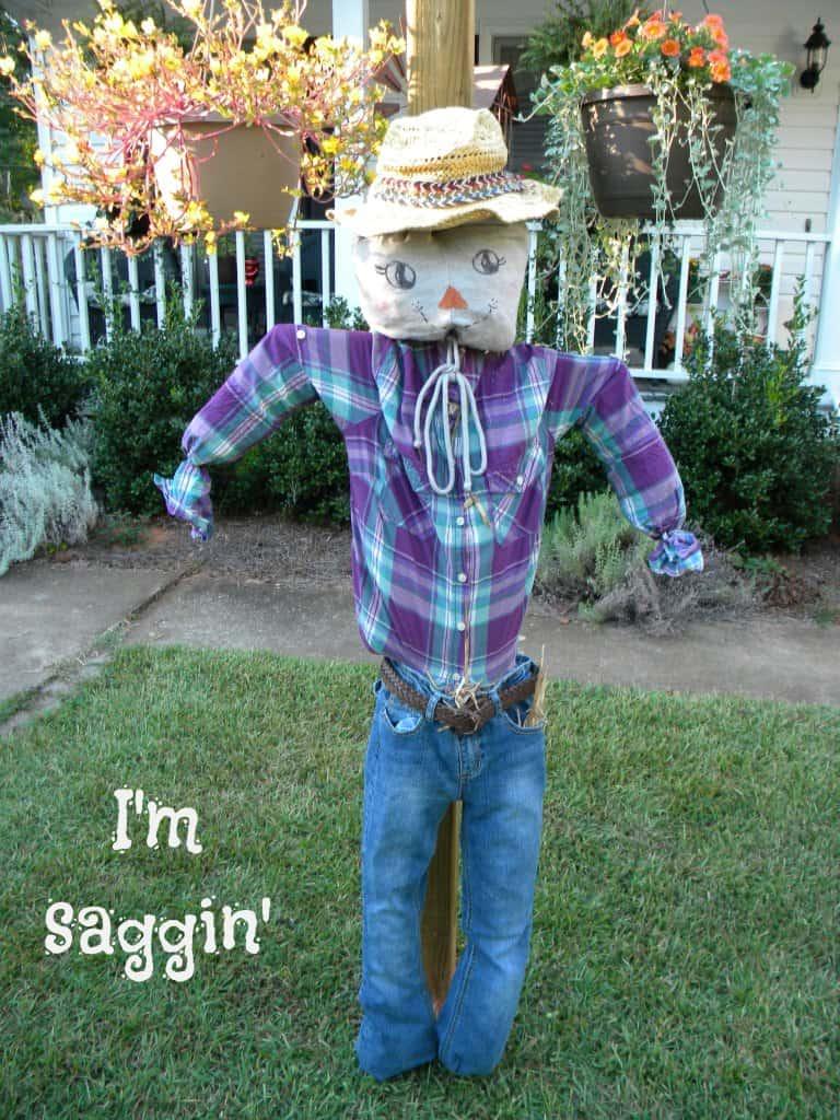 PVC pipe frame scarecrow
