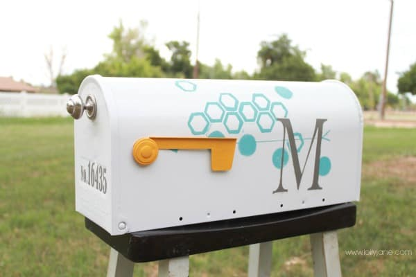 Paint And Vinyl Monogram Mailbox