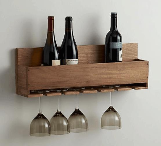 Polished wood wine rack